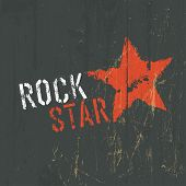 foto of rock star  - Rock Star Illustration - JPG
