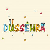 picture of ravan  - Illustration of stylish text of Dussehra with decorated crackers and funny Ravan face on stars decorated background - JPG