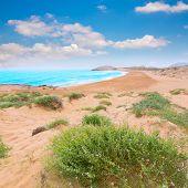 stock photo of manga  - Calblanque beach Park near La Manga Mar Menor in Murcia Spain - JPG
