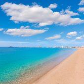 stock photo of manga  - Playa Paraiso beach in Manga Mar Menor Murcia at Spain - JPG