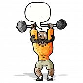 picture of strongman  - cartoon circus strongman - JPG