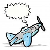 image of fighter plane  - cartoon fighter plane - JPG