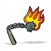 picture of mace  - cartoon flaming mace - JPG