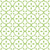 foto of doilies  - Seamless vintage doily pattern in white over lime green - JPG