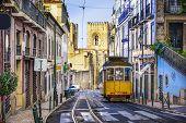 picture of tram  - Lisbon - JPG