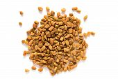 foto of fenugreek  - Pile of Fenugreek seeds isolated on white background - JPG