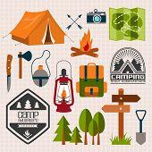 foto of boot camp  - Set of camping of adventure - JPG