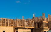 picture of 2x4  - Wooden framing for construction of new condominiums - JPG