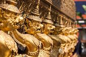 pic of garuda  - Golden Garuda of Wat Phra Kaew at Bangkok Thailand - JPG