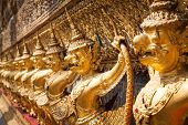 picture of garuda  - Golden Garuda of Wat Phra Kaew at Bangkok Thailand - JPG