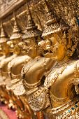 stock photo of garuda  - Golden Garuda of Wat Phra Kaew at Bangkok Thailand - JPG