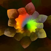 picture of color geometric shape  - Abstract colorful flower fractal background - JPG