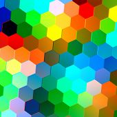 pic of peppy  - Abstract seamless background with colorful hexagons - JPG