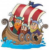 foto of viking ship  - Viking ship theme image 1  - JPG
