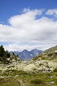 stock photo of engadine  - A view from South Tirol onto the Swiss Engadin Alps - JPG