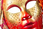 pic of venetian carnival  - Carnival mask Christmas New year Venetian white background isolated object - JPG