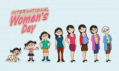 stock photo of special day  - Life circle of a women - JPG