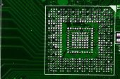 stock photo of microprocessor  - microprocessor detail as very nice technological background - JPG