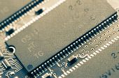 image of microchips  - Microchips and circuit stamps to vintage style - JPG
