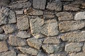 stock photo of mortar-joint  - Masonry of coquina  - JPG