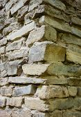 foto of mortar-joint  - Stone masonry corner with rich and various texture - JPG