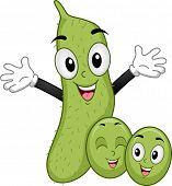 pic of soya beans  - Mascot Illustration of a Family of Soya Beans Smiling Happily - JPG