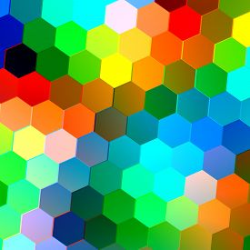 foto of peppy  - Abstract seamless background with colorful hexagons - JPG