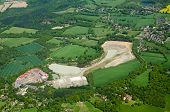 picture of mole  - Aerial view of the lime quarry and brickworks at Betchworth in the Surrey Hills surrounded by the villages of Beare Green and South Holmwood in the Mole Valley close to Gatwick Airport - JPG