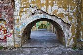 foto of dnepropetrovsk  - Destroyed arch at the palace - JPG