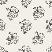 stock photo of chameleon  - Chameleon Doodle - JPG