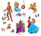 picture of nutcracker  - Set cartoon Characters  for fairy tale Nutcracker  - JPG