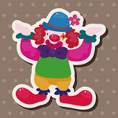foto of circus clown  - Circus Clown Theme Elements - JPG