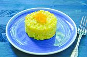 pic of saffron  - Risotto with pumpkin flowers with saffron cream - JPG