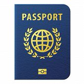 picture of passport cover  - International identification document for travel - JPG