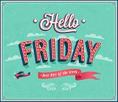 picture of friday  - Hello Friday creative typographic design - JPG
