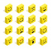 pic of emoticons  - Set of Emoticons isometric flat illustration with isolated background - JPG