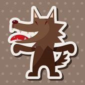 foto of cartoon animal  - Animal Wolf Cartoon Theme Elements - JPG