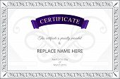 stock photo of certificate  - Certificate template - JPG