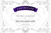 pic of certificate  - Certificate template - JPG