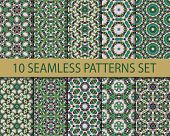 picture of ten  - Set of geometric seamless patterns - JPG