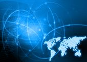 pic of world-globe  - world map technology style - JPG