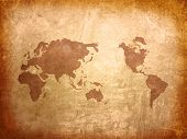 world map vintage artwork poster