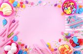 Bright Colorful Candy Background poster