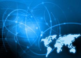 pic of world-globe  - world map technology style - JPG