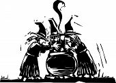 picture of covenant  - Three witches stand over a boiling cauldron - JPG