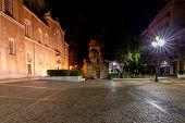 Greek Orthodox Cathedral Metropolis At Night. Athens. Greece poster