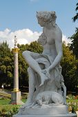 Statue In The Park Of Sanssouci (potsdam, Germany), Used To Be A Summer Residence Of King Of Prussia poster