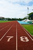 foto of 8-track  - Number Seven And Eight On The Start Of A Running Track - JPG