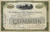 Old Stock Certificate 3 poster
