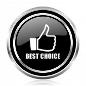 Best choice black silver metallic chrome border glossy round web icon poster
